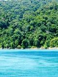 美丽的热带海滩和雨林在安达曼海,泰国 库存照片