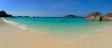 美丽的热带海滩在泰国, Sou的Similan海岛 免版税库存照片