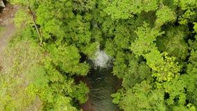 美丽的热带瀑布卡米金省,菲律宾 股票录像