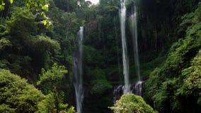 美丽的热带瀑布巴厘岛,印度尼西亚 股票录像