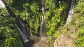 美丽的热带瀑布巴厘岛,印度尼西亚 影视素材