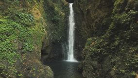 美丽的热带瀑布 巴厘岛,印度尼西亚 股票录像