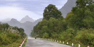 美丽的热带路 免版税图库摄影