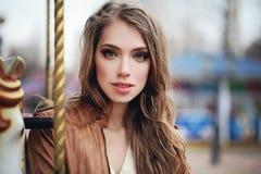美丽的特写镜头纵向妇女年轻人 免版税库存照片