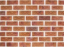 美丽的独特的砖墙 免版税库存照片