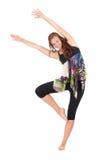 美丽的现代样式舞蹈演员 免版税库存图片