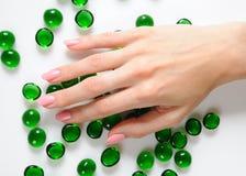 美丽的现有量修指甲钉子理想的粉红&# 图库摄影