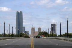 美丽的现代城市俄克拉何马 免版税库存照片