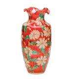美丽的玻璃被弄脏的花瓶 免版税图库摄影