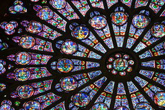 美丽的玻璃被弄脏的视窗 库存照片
