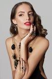 美丽的珠宝妇女年轻人 库存照片