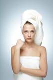 美丽的理想的皮肤妇女 库存图片