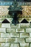 美丽的瓦片&喷泉-哀痛天主教-费城,宾夕法尼亚的被抛弃的母亲 免版税图库摄影