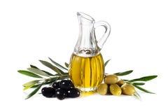 美丽的瓶穿戴的油橄榄香料 图库摄影