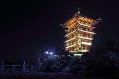 美丽的瓷晚上塔 免版税图库摄影