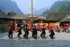 美丽的瓷贵州原来的村庄 免版税库存照片