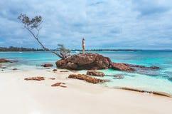 美丽的田园诗海滩 免版税库存照片