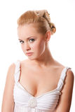 美丽的白人妇女 图库摄影