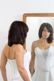 美丽的白人妇女 免版税库存图片