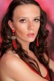 美丽的白种人典雅的女性 图库摄影