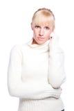 美丽的白种人冬天妇女 库存照片