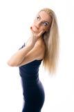 美丽的白种人女孩年轻人 免版税库存照片