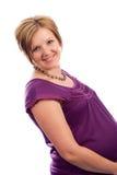 美丽的白种人孕妇年轻人 免版税图库摄影