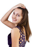 美丽的白种人纵向妇女年轻人 免版税库存照片