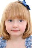 美丽的白肤金发的女孩头发少许草莓 库存照片
