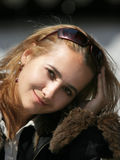 美丽的白肤金发的女孩 库存图片