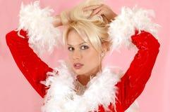 美丽的白肤金发的女孩 免版税图库摄影