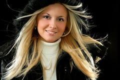 美丽的白肤金发的女性 免版税库存图片