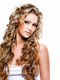美丽的白肤金发的妇女 免版税库存图片