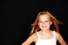 美丽的白肤金发的孩子一点 图库摄影