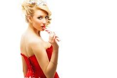 美丽的白肤金发的性感的女孩 免版税库存图片