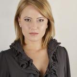 美丽的白肤金发的诱人的妇女 免版税库存照片