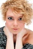 美丽的白肤金发的年轻人 库存照片
