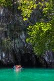 美丽的盐水湖,最长的可航行的地下ri的起点 免版税库存照片
