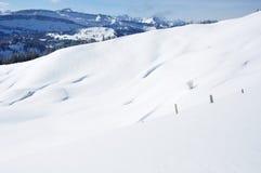 美丽的目的地横向滑雪雪 库存图片