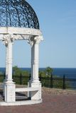 美丽的眺望台湖 库存照片