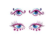 美丽的眼睛、uniq、vectorart和ilustration 图库摄影