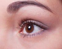 美丽的眼睛女性 免版税库存图片