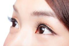 美丽的眼睛妇女 免版税库存照片
