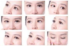 美丽的眼睛妇女 免版税图库摄影