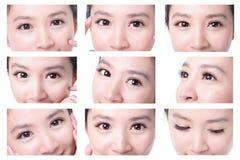 美丽的眼睛妇女 库存图片