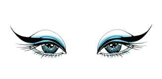 美丽的眼睛妇女 向量例证