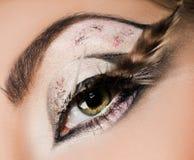 美丽的眼睛特写镜头  库存图片