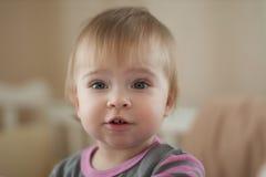 美丽的矮小的婴孩。 免版税库存图片