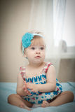 美丽的矮小的婴孩。 图库摄影