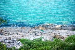 美丽的石海滩苏梅岛拉迈Chaweng 库存图片
